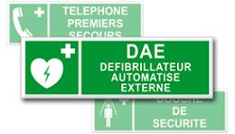 Pictogrammes Evacuation + Texte