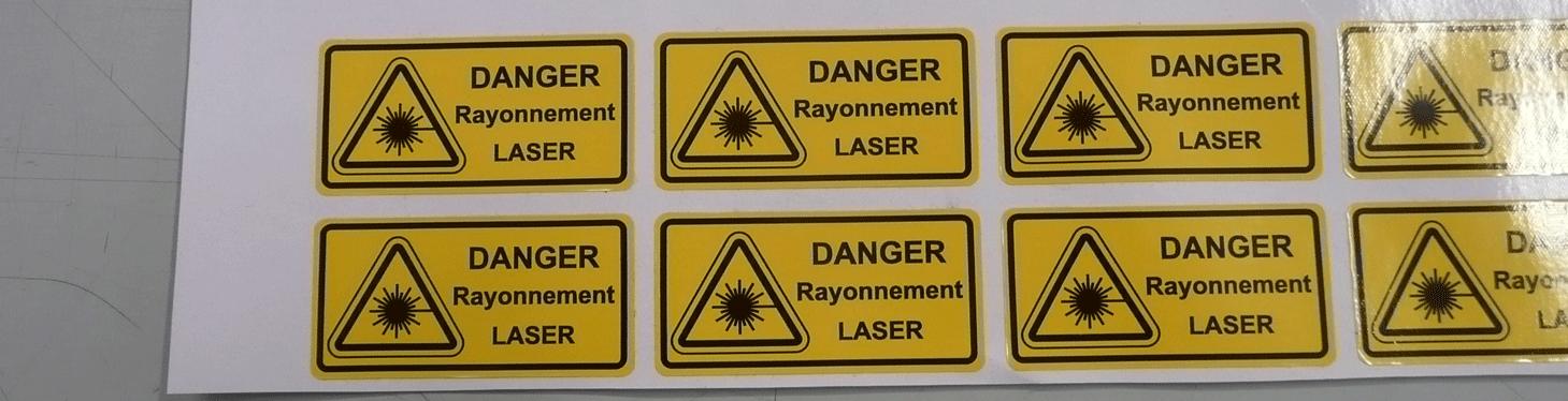 Vinyle adhésif danger