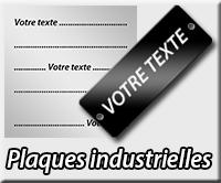 Plaques industrielles