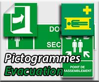 Panneaux/Pictogrammes Evacuation/Secours