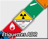 Etiquettes ADR