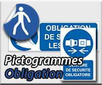 Panneaux/Pictogrammes Obligation